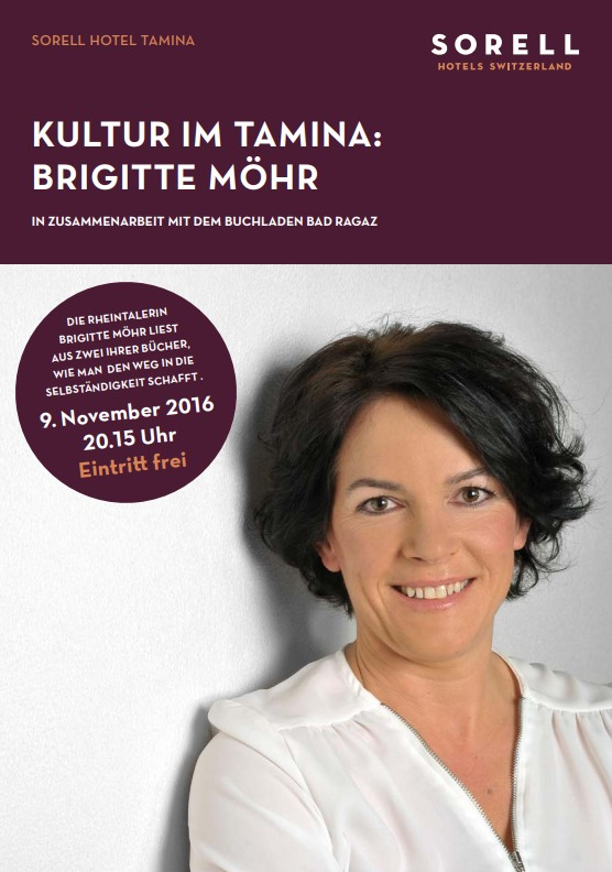 Flyer Lesung: Brigitte Möhr