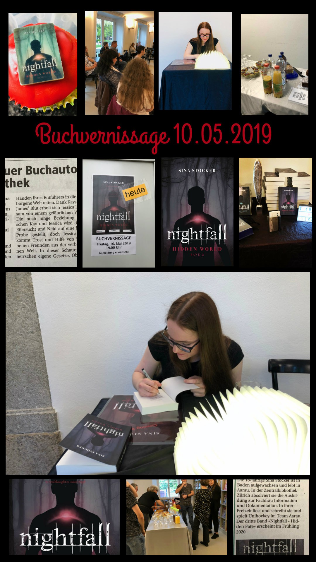 Buchvernissage Nightfall – Hidden world vom 10.05.2019 in der Stadtbibliothek Aarau